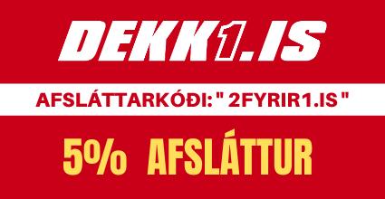 5% afsláttur á DEKK1.IS