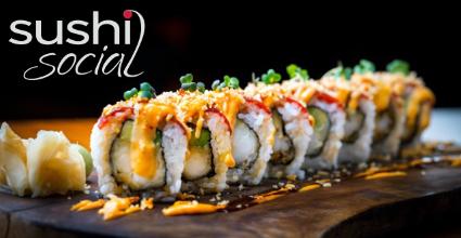 2 fyrir 1 á sushi rúllum